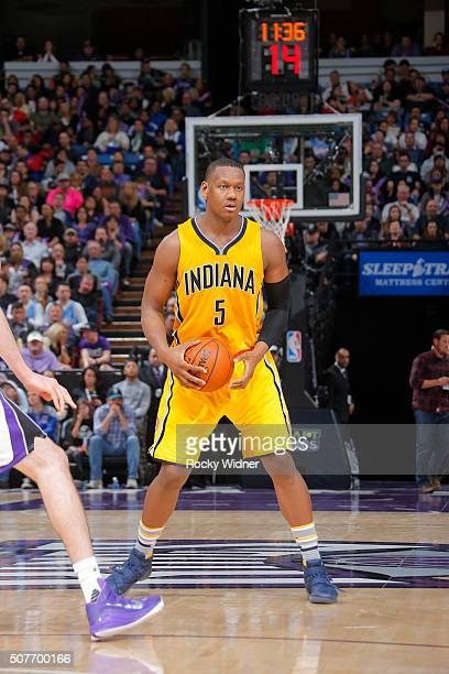 Lavoy Allen of the Indiana Pacers handles the ball against the Sacramento Kings on January 23 2016 at Sleep Train Arena in Sacramento California NOTE...