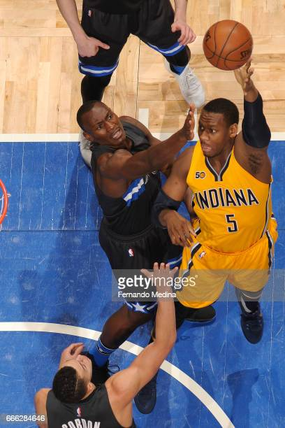 Lavoy Allen of the Indiana Pacers shoots the ball against the Orlando Magic on March 24 2017 at Amway Center in Orlando Florida NOTE TO USER User...