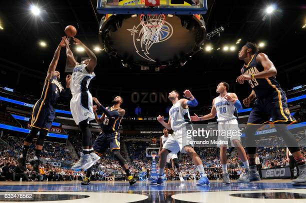 Lavoy Allen of the Indiana Pacers stb against the Orlando Magic on February 1 2017 at Amway Center in Orlando Florida NOTE TO USER User expressly...