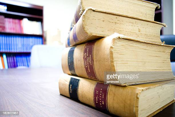 law books in library