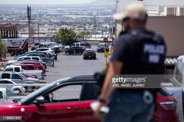 TOPSHOT Law enforcement agencies respond to an active shooter at a WalMart near Cielo Vista Mall in El Paso Texas Saturday Aug 3 2019 Police said...
