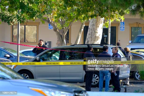 Law enforcement in the parking lot of the Borderline Bar & Grill in Thousand Oaks, CA. 13 people including a sheriff deputy and the shooter were...