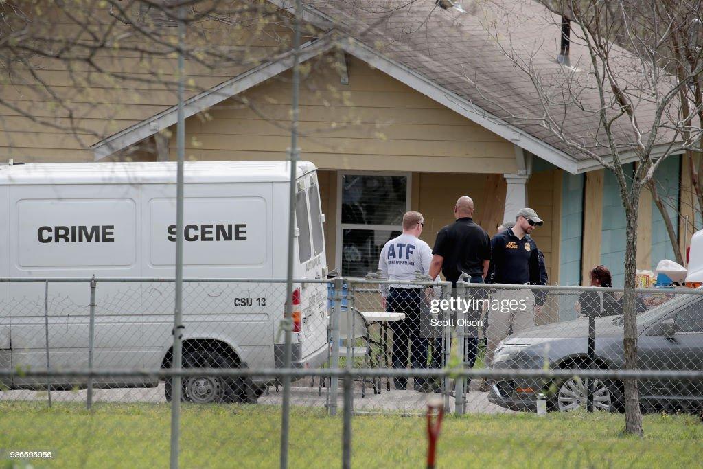 Law Enforcement Officials Continue Investigation Into Austin Bomber : News Photo