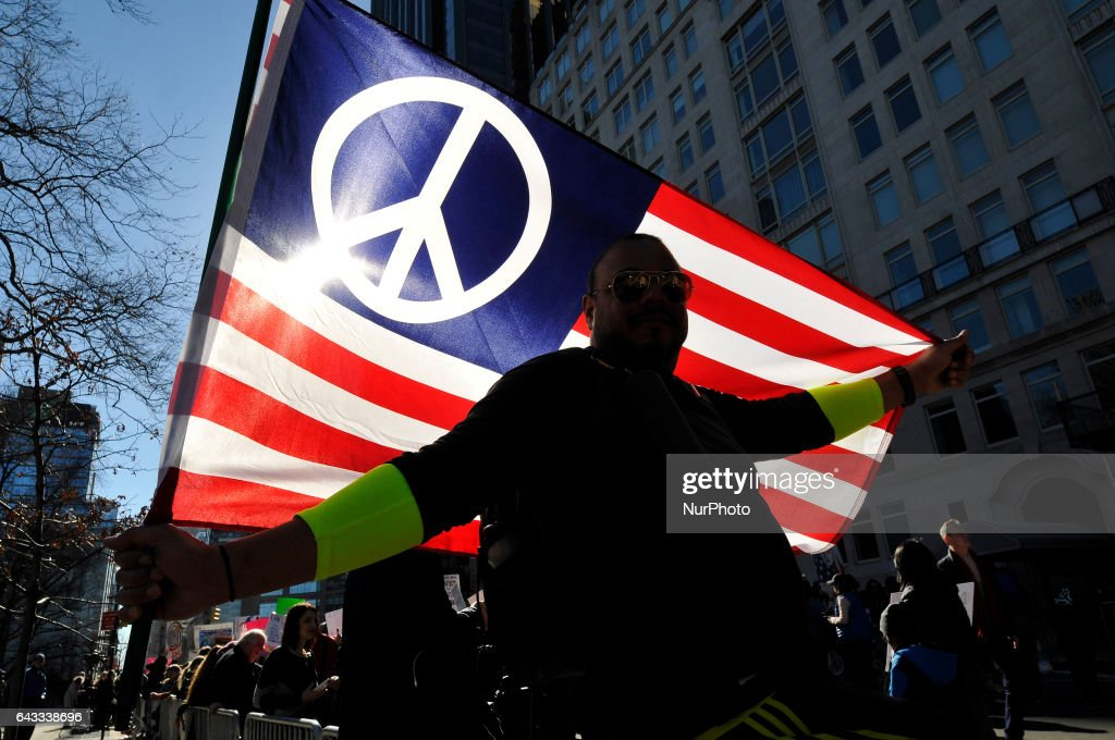 """""""Not My Presidents Day"""" Protest In New York City : News Photo"""