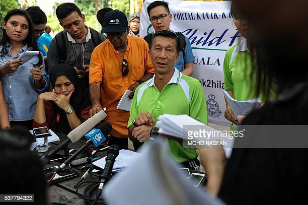 Law Hong Soon deputy chief of criminal investigation in the Royal Malaysian Police speaks during a press conference in Kuala Lumpur on June 3 2016...