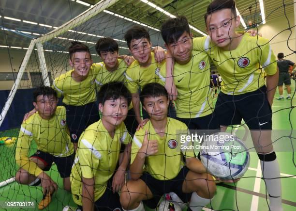 Law Kinghei Lau Wingsang Michael Wan Cheng Chinpang Yuen Saikit Cheung Chunwah Chu Wingcho and Li Cheukhonmembers of Hong Kong U15 Futsal team at Fat...