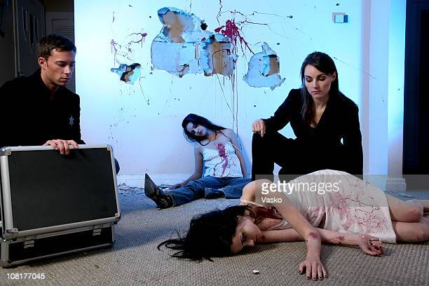 law & order series - death photos stock photos and pictures