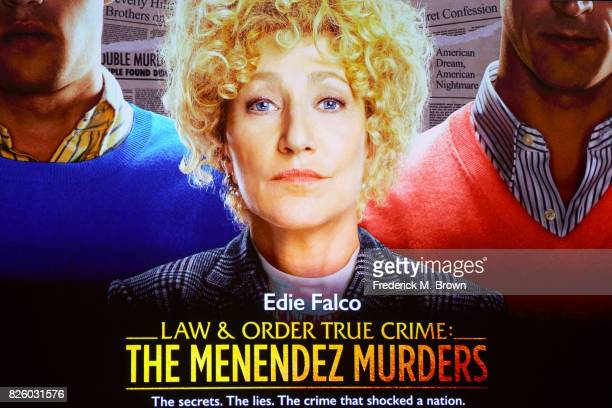 'Law Order True Crime The Menendez Murders' signage seen during the NBCUniversal portion of the 2017 Summer Television Critics Association Press Tour...