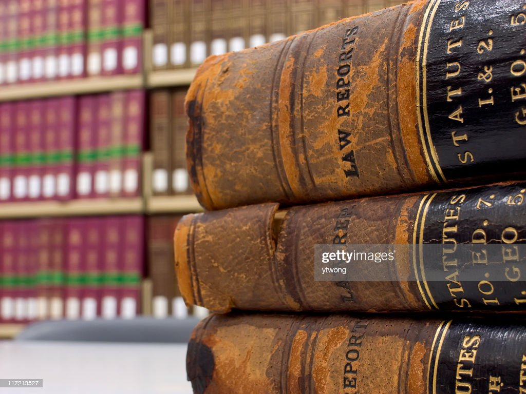Law reports : Stock Photo