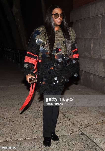 Law Roach is seen outside the Marc Jacobs show during New York Fashion Week Women's A/W 2018 on February 14 2018 in New York City