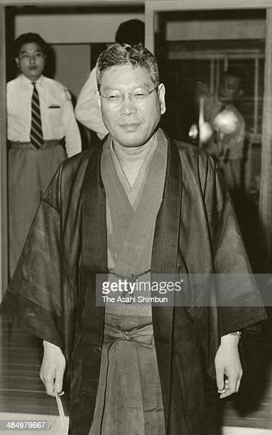 Lawmaker Hayato Ikeda is seen on July 25 1954 in Tokyo Japan Hayato Ikeda was three time Prime Minister of Japan 58th to 60th