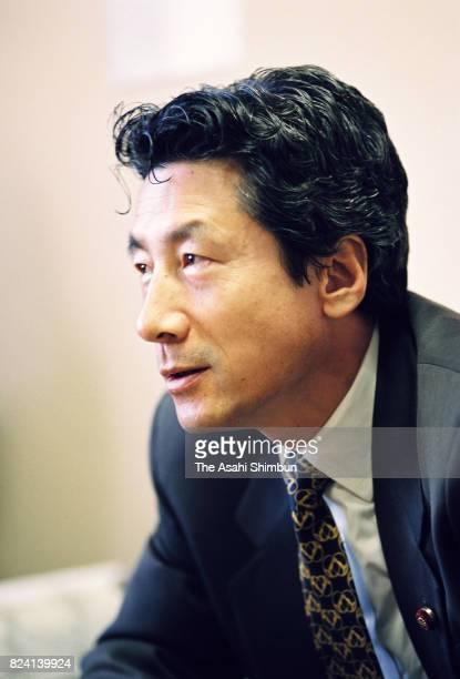 Lawmaker Junichiro Koizumi speaks during the Asahi Shimbun interview on November 8 1994 in Tokyo Japan