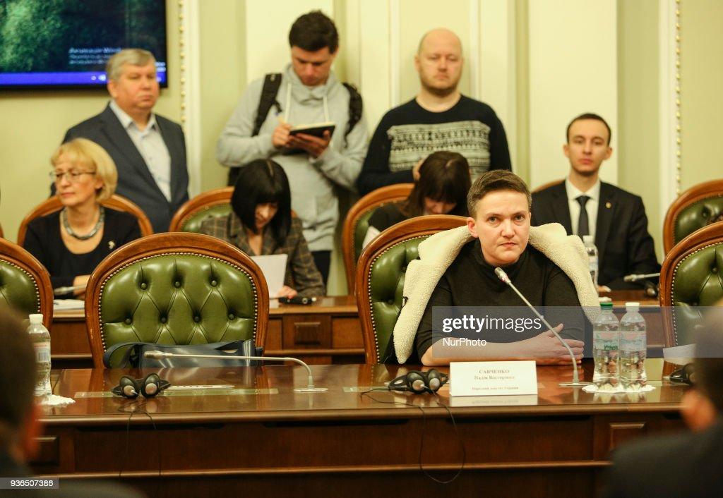 Ukrainian Parliamentarians votes to arrest Savchenko : News Photo