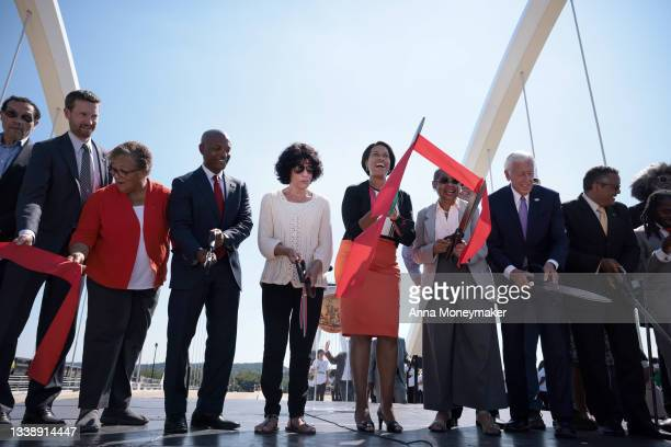 Lawmakers and family including Mayor Muriel Bowser, , Eleanor Holmes Norton, District of Columbia delegate to the House of Representatives, and U.S....