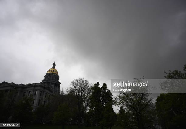 Lawmakers finish up on the final day of the 2017 legislative session inside the Colorado State Capitol on May 10 2017 in Denver Colorado