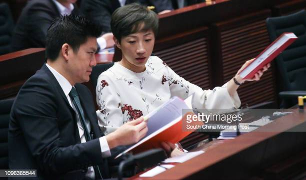 Lawmakers Jeremy Tam Manho and Tanya Chan Sukchong attend a Legco panel on development in Tamar 18OCT16 SCMP / David Wong