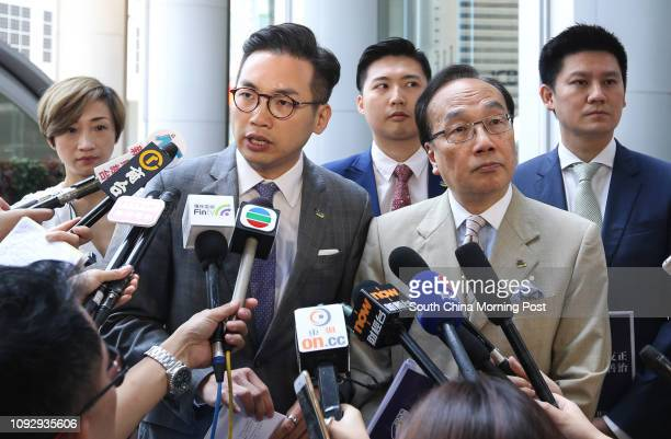 Lawmakers Tanya Chan Sukchong Alvin Yeung Ngokkiu Andy Yu Takpo Alan Leong Kahkit and Jeremy Jansen Tam Manho of the Civic Party meet Chief...