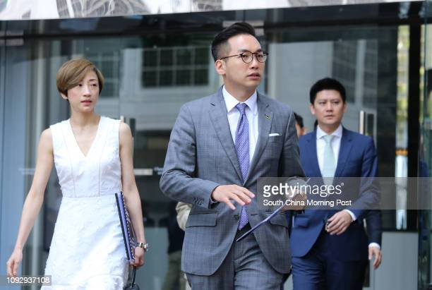 Lawmakers Tanya Chan Sukchong Alvin Yeung Ngokkiu Jeremy Jansen Tam Manho along with other members of Civic Party meets Chief Executiveelect Carrie...