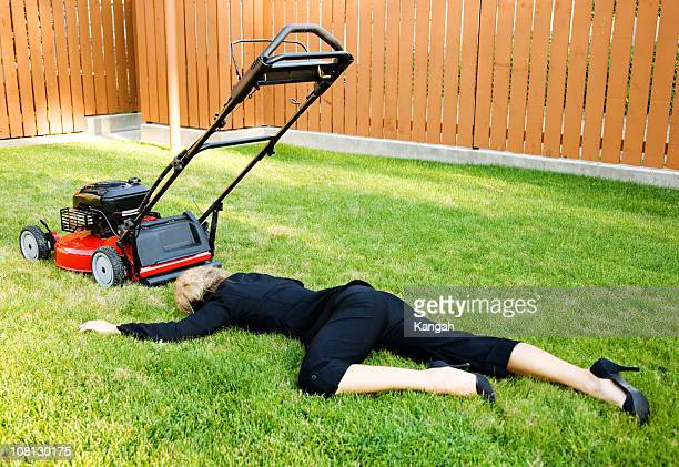 lawn business - dead women stock photos and pictures