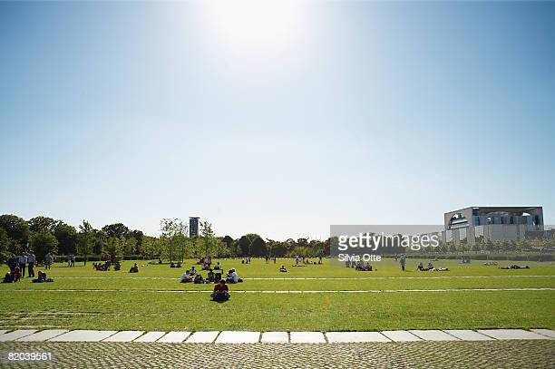Lawn in front of the Reichstag
