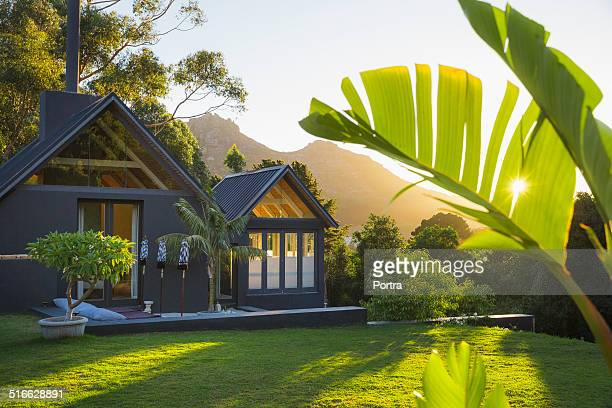 lawn outside resort - tourist resort stock pictures, royalty-free photos & images