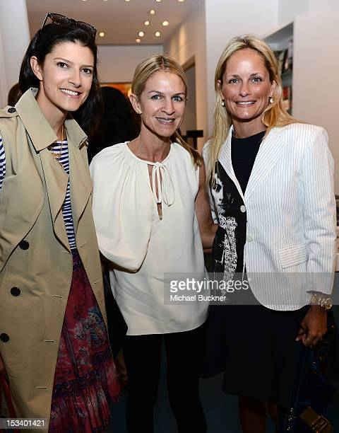 Lawren Howell Crystal Lourd and Heather Mnuchin attend the Director's Circle Celebration of WEAR LACMA Inaugural Designs by Johnson Hartig For...