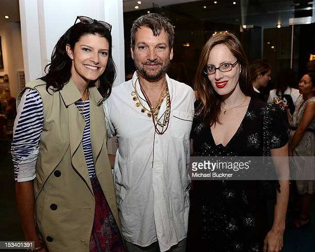 Lawren Howell Johnson Hartig and Liz Goldwyn attend the Director's Circle Celebration of WEAR LACMA Inaugural Designs by Johnson Hartig For Libertine...