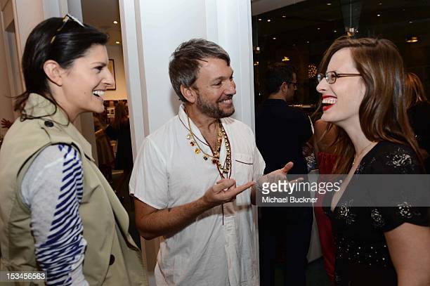 Lawren Howell Johnson Hartig Liz Goldwyn attend the Director's Circle Celebration of WEAR LACMA Inaugural Designs by Johnson Hartig For Libertine And...