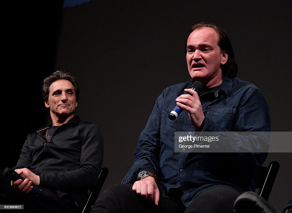 Lawrence Bender, and Quentin Tarantino speak at the 'Reservoir Dogs' 25th Anniversary Screening during the 2017 Sundance Film Festival at Eccles Center Theatre on January 27, 2017 in Park City, Utah.