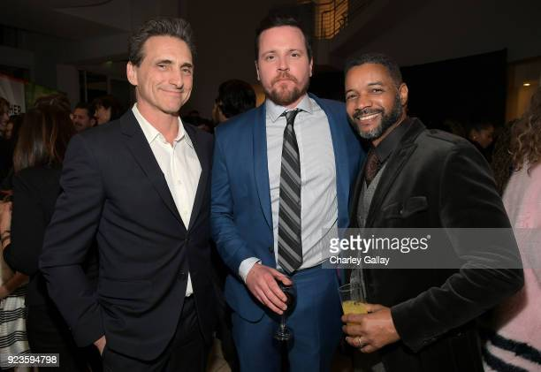 Lawrence Bender Michael Mosley and David Shanks attend Netflix's 'Seven Seconds' Premiere screening and postreception in Beverly Hills CA on February...