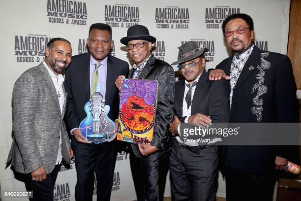Lawrence 'Boo' Mitchell Robert Cray and Hi Rhythm attend the 2017 Americana Music Association Honors Awards on September 13 2017 in Nashville...