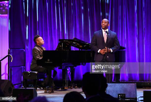 Lawrence Brownlee performs onstage at Autism Speaks Celebrity Chef Gala on Wall Street at Cipriani Wall Street on October 10 2017 in New York City