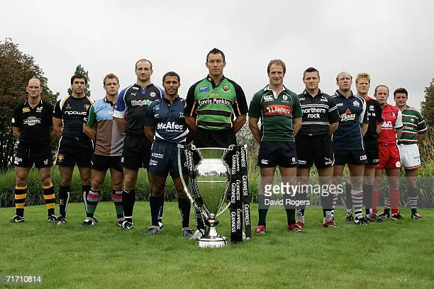 Lawrence Dallaglio of London Wasps Pat Sanderson of Worcester Warriors Paul Volley of NEC Harlequins Steve Borthwick of Bath Rugby Jason Robinson of...