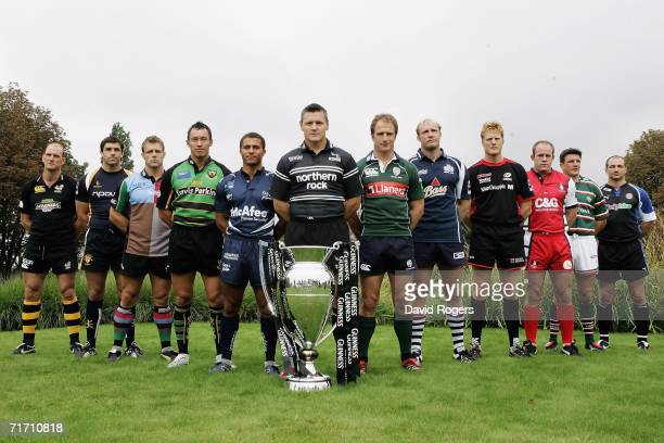 Lawrence Dallaglio of London Wasps, Pat Sanderson of Worcester Warriors, Paul Volley of NEC Harlequins, Bruce Reihana of Northampton Saints, Jason...