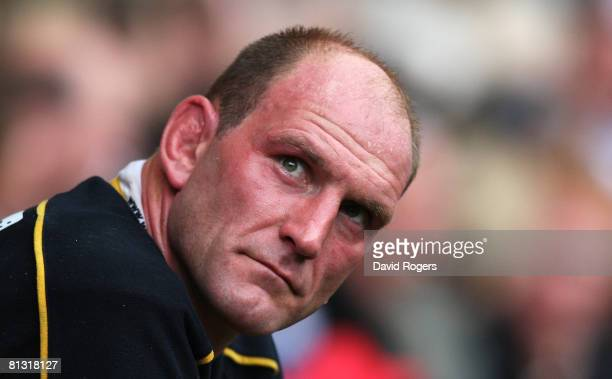 Lawrence Dallaglio of Wasps during the Guinness Premiership Final match between Leicester Tigers and London Wasps at Twickenham on May 31 2008 in...