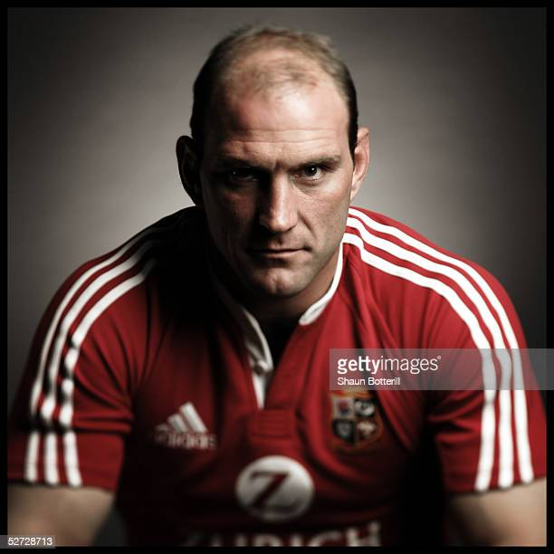 Lawrence Dallaglio pictured during the British and Irish Lions Squad Photocall for the 2005 Tour to New Zealand on April 18 2005 in Cardiff Wales
