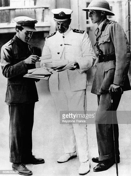 Lawrence d'Arabie David George Hogarth et le colonel Danney au Caire Egypte circa 1930