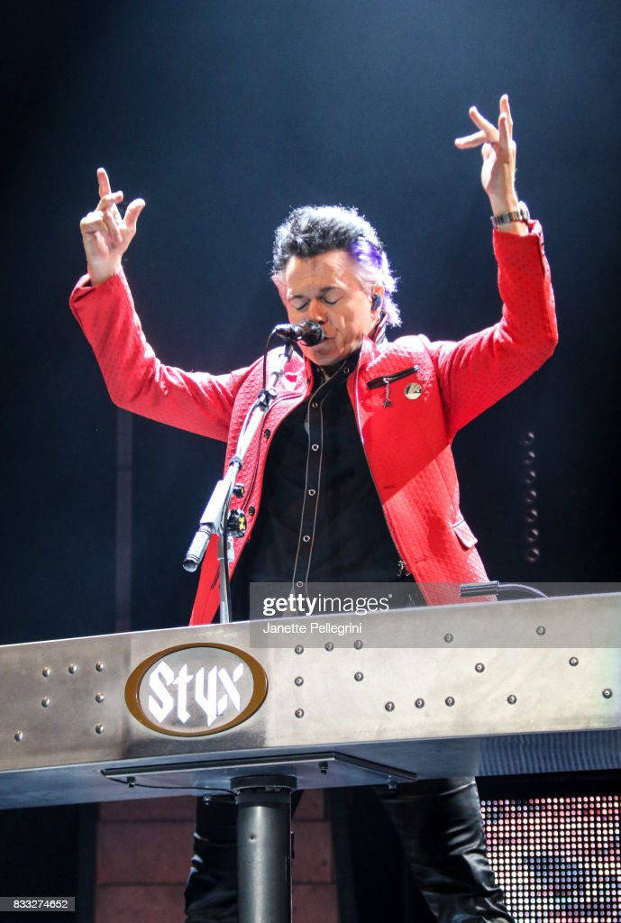 Lawrence Gowan from Styx performs in concert at Northwell Health at Jones Beach Theater on August 16, 2017 in Wantagh, New York.