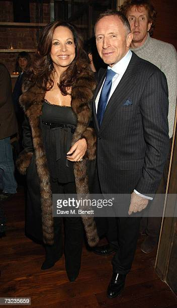 Lawrence Graff and wife attend the private dinner following the private view of George Condo's new paintings and sculptures on display at the Simon...