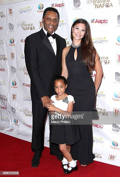Lawrence Hilton Jacob and guest arrive at the 5th Annual Nollywood African Film Critics Awards at Orpheum Theatre on September 12 2015 in Los Angeles...
