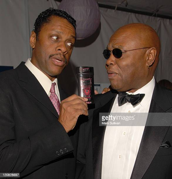 Lawrence HiltonJacobs and Georg Stanford Brown during Backstage Creations at the 5th Annual TV Land Awards at Barker Hangar in Santa Monica...