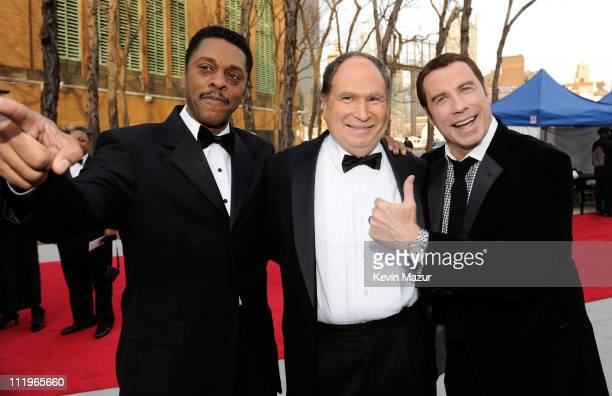 Lawrence HiltonJacobs Gabe Kaplan and John Travolta attends the 9th Annual TV Land Awards at the Javits Center on April 10 2011 in New York City