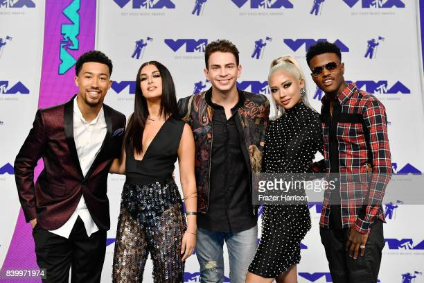 Lawrence Jackson Tamara Dhia Erik Zachary Amy Pham and DC Young Fly attend the 2017 MTV Video Music Awards at The Forum on August 27 2017 in...