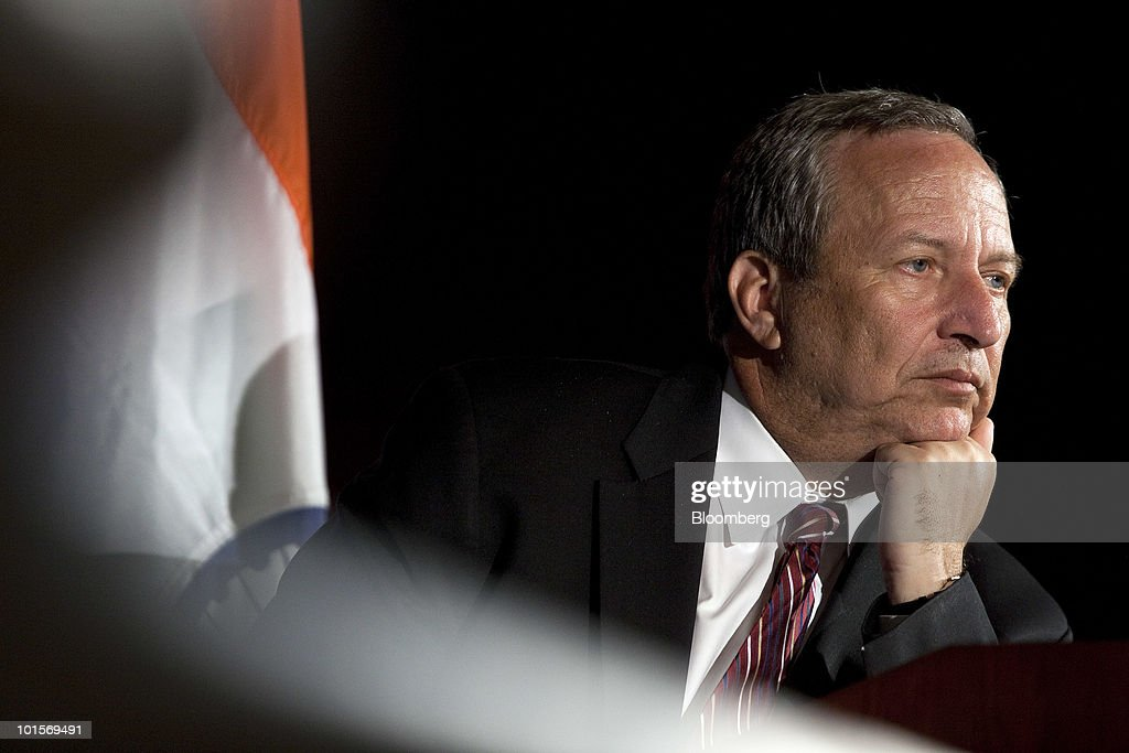 Lawrence 'Larry' Summers, director of the White House's National Economic Council, listens to a question at the U.S.-India Business Council meeting in Washington, D.C., U.S., on Wednesday, June 2, 2010. The USIBC, formed in 1975, represents AmericaÕs top companies investing in India. Photographer: Joshua Roberts