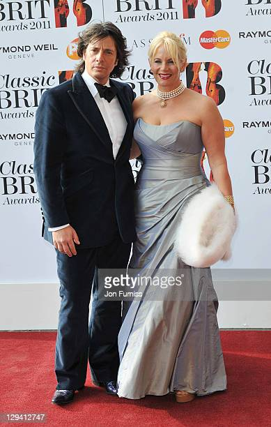 Lawrence Llewelyn Bowen and Jackie Llewelyn Bowen arrive at The Classic BRIT Awards at Royal Albert Hall on May 12 2011 in London England