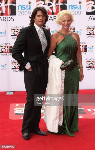 Lawrence LlewelynBowen and Jackie LlewelynBowen arrive for the Classical Brit Awards 2009 at Royal Albert Hall on May 14 2009 in London England