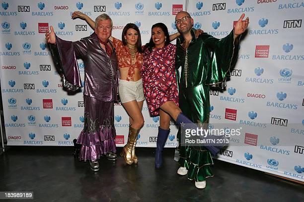 Lawrence Mcginty Lucrezia Millarini Nina Nannar and Richard Edgar from the ITV News Crew win the annual Newsroom's Got Talent event to raise money...
