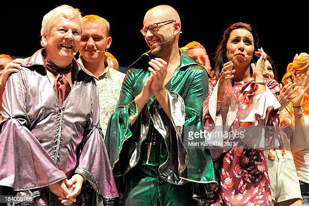 Lawrence McGinty Richard Edgar Nina Nannar and Lucrezia Millarini of the ITV News Team perform at the annual Newsroom's Got Talent event to raise...