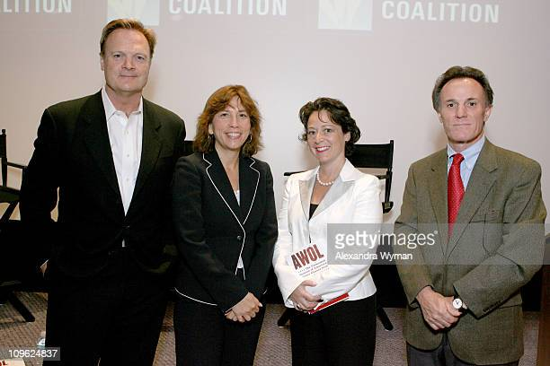 Lawrence O'Donnell Jr Adrienne Beeker Kathy RothDouquet and Frank Schaeffer authors of AWOL The Unexcused Absence of America's Upper Classes from...
