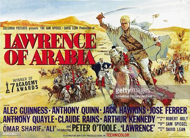 'Lawrence of Arabia' a 1962 British epic adventure film starring Peter O'Toole as Lawrence